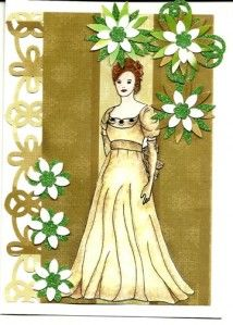 My First Lady this is for my challenge on Outlawz.com isn't she beautiful.  You can make this with supplies from www.scrapbookstampshop.com or follow us  on ladybugstamps.wordpress.com