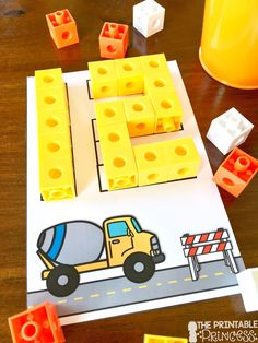 Construction theme centers for Kindergarten. Six fun and engaging activities to … Construction theme centers for Kindergarten. Six fun and engaging activities to help students build words, sentences, numbers and more! Numbers Preschool, Kindergarten Activities, Preschool Activities, Montessori Math, Number Activities, Community Helpers Preschool, Kindergarten Centers, Math Centers, Kindergarten Poetry