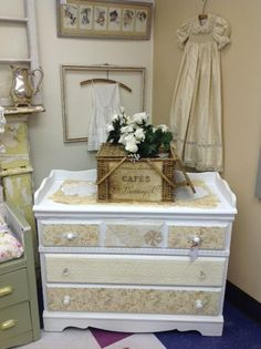 Shabby Chic Roses Dresser/Changing Table By VintageChicBtq On Etsy, $165.00