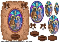 Ethnic Nativity in stained Glass Pyramid on Craftsuprint - View Now!