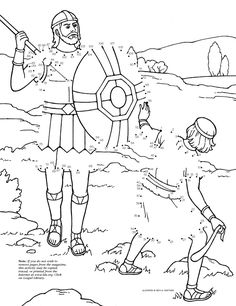 David and Goliath Dot-to-Dot