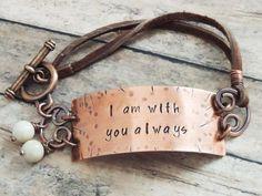 I am with you always Christian Bracelet
