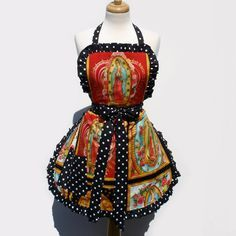 Guadalupe, Virgin Mary Mexican Art Apron Deluxe (I'm so getting this for Talia! lol)