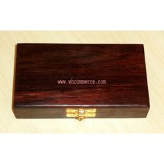 Rosewood Box for Double Coin / Wooden Coin Box