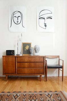 House Tour: Warm Colors and Art in a Rental Apartment | Apartment Therapy
