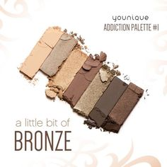 Younique's Moodstruck Addiction Shadow Palette... Get obsessed. Take it from serene to extreme with seven crease-resistant, fade-resistant, long-wearing, buildable colors. With 3 different palettes to choose from, you'll find colors to suit your every mood and match every outfit.