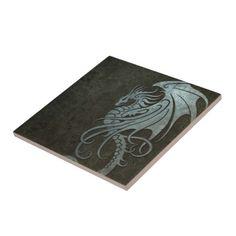 Industrial Steel Flying Dragon - right side Ceramic Tile