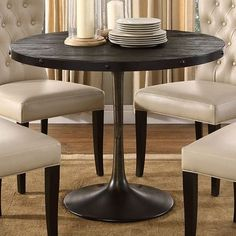 Smoky teak round dining table furniture dining tables smoky teak round dining table furniture dining tables pinterest round dining table teak and tables watchthetrailerfo