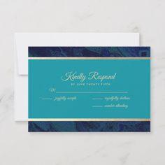 Shop Navy Blue Turquoise Wedding RSVP Cards created by YourWeddingDay. Whimsical Wedding Invitations, Wedding Invitation Cards, Bridal Shower Invitations, Wedding Stationery, Wedding Rsvp, Wedding Anniversary, Wedding Cards, Wedding Gifts, Exotic Wedding