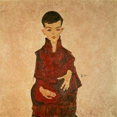 Egon Schiele - Portrait of Herbert Rainer