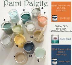 Paint Palette shared via Martha Stewart