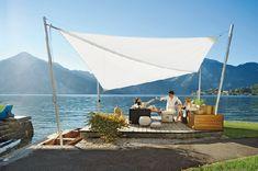 Gardenplaza - Sonnen- und Regenschutz in einem – im Handumdrehen auf- und abgebaut! - Sonnensegel, die den Wind überraschen
