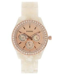 Fossil Acrylic Watch pink face. this wil be the second