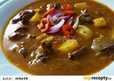 Czech Recipes, Ethnic Recipes, Thai Red Curry, Chili, Food And Drink, Treats, Cooking, Health, Red Peppers