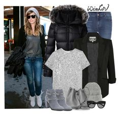 """""""Sundance look"""" by danniss ❤ liked on Polyvore featuring 7 For All Mankind, Lands' End, Pilot, Nina Ricci, Topshop, Lancaster, Valentino and Le Specs"""