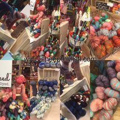 The Fiber Seed Yarn Co. trunk show at Sheep Thrills Yarn Store.