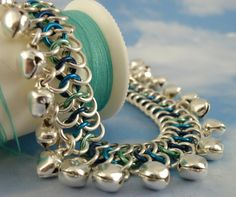 Chainmaille Anklet Kit Jingle Bells European 4 in 1 Weave ~ This Kit can be customized with different colored bells or a different mix of jump rings colors so you can really make this your own!