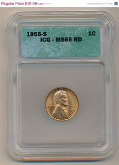 1955s IGC slabbed MS65 Beautiful wheat cent by DrewsCollectibles