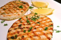 Grilled Calamari steaks are very easy to prepare and offer low FODMAP lean protein. The can be found in the freezer section of the supermarket. Grilled Calamari Steak Recipe, Grilled Squid, Calamari Recipes, Grilled Steaks, Healthy Grilling, Grilling Recipes, Fish Recipes, Seafood Recipes, Cooking Recipes