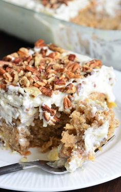Soft, moist, super easy poke cake that makes a beautiful spring and summer dessert. This version of a Hummingbird cake is so easy and extra moist from a layer of sweet, creamy sauce. Don't forget to s