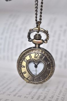 TIMELESS LOVE Victorian Style locket pocket watch by finkgifts, $20.00  Seriously.....I want this