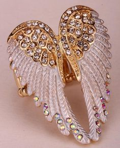 Cheap stretch rings, Buy Quality ring women directly from China jewelry gift Suppliers: YACQ Angel Wings Stretch Ring Women Biker Bling Jewelry Gifts for Her Antique Gold Silver Plated Crystal Wholesale Dropshipping Bling Jewelry, Crystal Jewelry, Jewelry Gifts, Nice Jewelry, Handmade Jewelry, Leather Jewelry, Jewelry Box, Jewellery, Harley Davidson