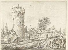 Herman Saftleven | Bijlhouwerstoren op de wallen van Utrecht, Herman Saftleven, 1619 - 1685 |