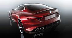 Alfa Romeo Giulia 2015 Sketches (Auto & Design | Article)