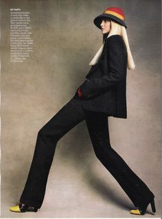 Patrick Demarchelier – Brights! Camera! Action! Caroline Trentini for Vogue US September 2007