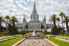 HDR wedding photo, Oakland Temple Photos © by Stephanie Secrest Photography