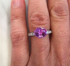 A stunningly beautiful choice for an alternative engagement ring, this #gorgeous #pink #sapphire looks fab in a #platinum and #diamond setting. Made to order, contact us to enquire.  #engagement #engaged #yes #ido #alternative #engagementring #customengagementring #bespoke #bespokeengagementring #customjewelry #custom #custommade #special #forever #love #loveofmylife  #contemporaryjewellery #jewellery #jewelry #style #sydneyjewellery #australiandesign #madeinsydney #quality #chifley…