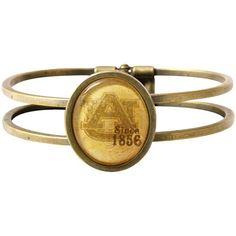 Auburn Tigers Vintage Antique Brass Bracelet