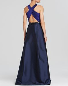 ML Monique Lhuillier Gown - Color Block | Bloomingdale's