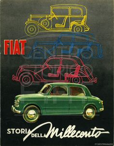 Centro Storico Fiat - 1953. #Fiat advertising. #Fiat Millecento.