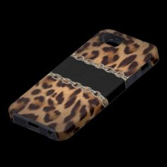 Leopard buckle illusion iPhone5 case Valxart.com Impact resistant & lightweight hard plastic case with rubber lined interior.  Designed for the Apple iPhone 5 (AT, Verizon, and Sprint models).
