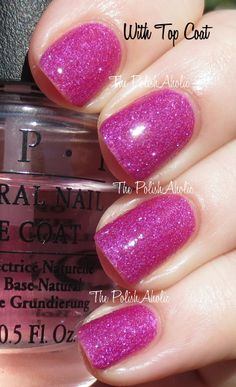 OPI Brazil Collection Beach Sandies Mini Set Swatches  Samba-dy Loves Purple is a red toned purple with silver shimmer. The formula was good, it was a little sheer on the first coat but ended up being completely opaque with the second coat. I used 2 coats for the photos below.