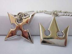 Sora's Kingdom Necklace and Roxas' Nobody Necklace of Kingdom Hearts II