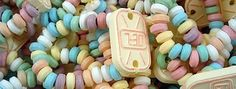Who remembers these? Delicious candy on elastic which you nibbled off.
