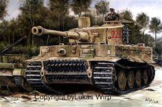Tiger 222 Michael Wittmann in Villers-Bocage