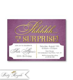 118 best surprise birthday party invitations images in 2018