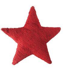Cojín infantil lavable Estrella roja de Lorena Canals