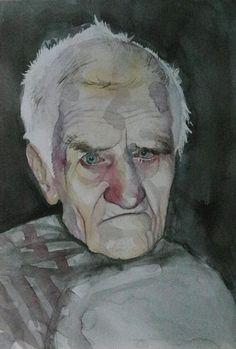 women portrait, watercolor