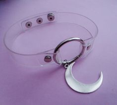 clear moon collar by OfStarsAndWine on etsy - - pastel goth - grunge fashion - nu goth - pastel grunge - pastel aesthetic - purple