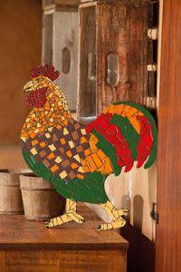 Creative Company | Mosaics decorative ideas – Rooster Creative Company, Mosaic Crafts, Mosaics, Rooster, Dinosaur Stuffed Animal, Craft Projects, Kitchen, Ideas, Decor