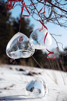 Jääkoristeet (veden jäädytys ilmapallossa)