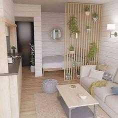 Bedroom decor 10 classic design ideas for small studio apartments 8 Condo Interior, Home Interior Design, Studio Interior, Living Room Decor, Bedroom Decor, Bedroom Ideas, Bedroom Interiors, House Interiors, Wall Decor