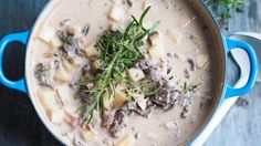 Ida Gran-Jansen – Idas fristelser Cheeseburger Chowder, Camembert Cheese, Panna Cotta, Soup, Dessert, Meat, Chicken, Recipes, Board