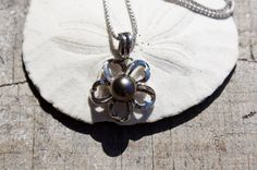 Maui Diver's Tahitian Pearl Plumeria Gold by StarShineVintage