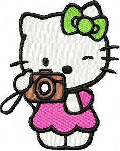 33d432eb6 hello kitty embroidery designs   Hello Kitty Photographer machine  embroidery design