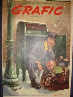 TRIBUNE GRAFIC CHRISTMAS COVER ART CAMAY ADVERT 21 DECEMBER 1947 1010220SS | eBay